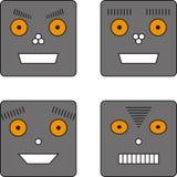 套四个机器人 免版税库存图片