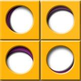 与圆窗口的集合橙色正方形 库存照片