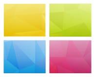 抽象多角形模板 免版税库存图片