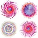 套四种颜色螺旋传染媒介。 向量例证