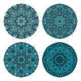 套四件绿松石通报装饰品 库存例证