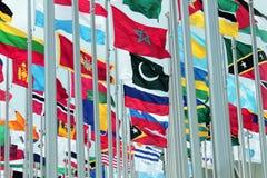 套国际旗子 库存图片