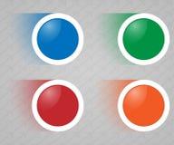 套圆的颜色按钮 库存图片