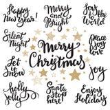 套圣诞快乐字法 免版税库存照片
