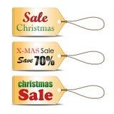 套圣诞节销售标记,可能为您的事务使用或促进或者用途在网站 也corel凹道例证向量 免版税库存照片