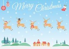 套圣诞节驯鹿 图库摄影