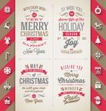 套圣诞节类型设计 免版税库存照片