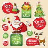 套圣诞节价牌 免版税库存图片