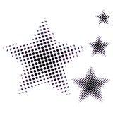 套在中间影调的星另外大小 在白色背景网站的星象或应用隔绝的 向量 库存图片