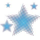套在中间影调的蓝星 在白色背景网站的星象或应用隔绝的 向量 库存照片