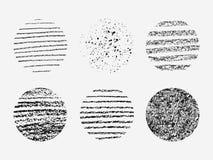 套在圈子的不同的难看的东西纹理 库存图片