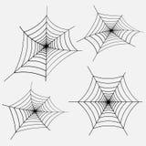 套在白色背景上的黑蜘蛛网 设计元素,象 向量 库存例证