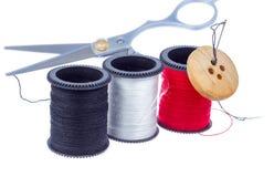 裁缝成套工具。 图库摄影