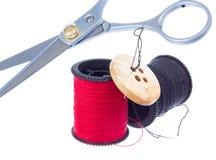 裁缝成套工具。 库存图片