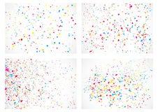 套在白色背景的抽象颜色飞溅例证 图库摄影