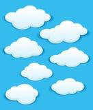 套在蓝天的白色云彩 图库摄影