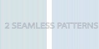 套在蓝色颜色的两个无缝的样式 皇族释放例证
