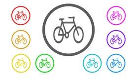 套在颜色,例证,自行车的象 库存照片