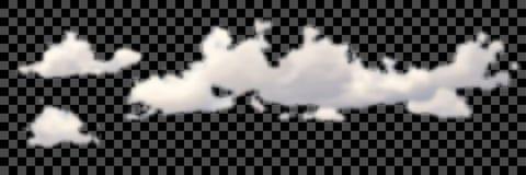 套在黑传染媒介的透明不同的云彩 向量例证