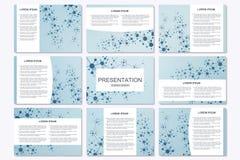 套在A4大小的现代企业介绍模板 连接结构 与分子的抽象背景 向量例证