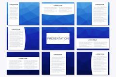 套在A4大小的现代企业介绍模板 库存例证