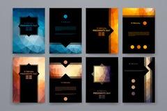 套在poligonal样式的小册子在Day总统题材 免版税图库摄影