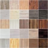 套地板木头纹理 免版税库存照片