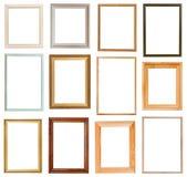 套垂直的画框 库存图片