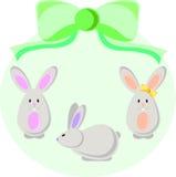 套复活节兔子 库存图片