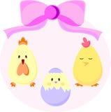 套复活节小鸡 库存图片