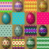 套复活节彩蛋无缝的纹理样式 免版税库存图片
