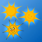 套夏天太阳 库存照片