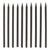 套多支五颜六色的铅笔 免版税库存照片