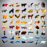 套多角形动物 免版税库存图片