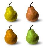 套多角形多彩多姿的梨,在传染媒介 免版税库存图片