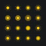 套太阳的不同的图象,传染媒介 免版税库存图片