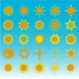 套太阳的标志 免版税库存图片