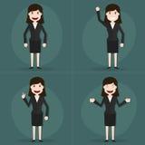 套女实业家字符姿势 免版税库存图片