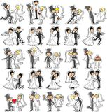 套婚礼照片,向量 免版税图库摄影