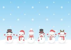 套字符动画片逗人喜爱的雪人 库存图片