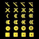 套字符的V形臂章在比赛 库存图片