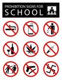 套学校的禁止标志 向量例证