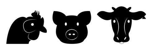 套家畜键入表示法 免版税库存图片