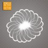 套对透明背景的不可思议的发光的火花漩涡足迹作用 Bokeh闪烁与飞行的波浪线 库存例证