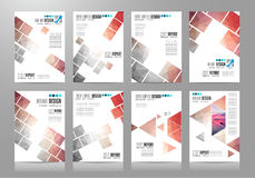套小册子模板、飞行物设计或者Depliant盖子事务的 免版税库存图片