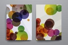 套小册子,海报在抽象背景样式的设计模板 免版税图库摄影