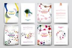 套小册子,海报在脱氧核糖核酸的设计模板 向量例证