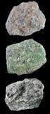 套岩石和矿物â9 免版税库存图片