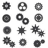 套嵌齿轮和机器传染媒介和象 图库摄影