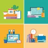套工作区 设计师,事务,学生 免版税库存照片
